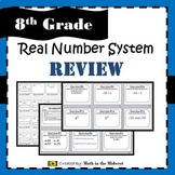 Real Number System Review Game - 8.NS.1, 8.NS.2, 8.EE.2