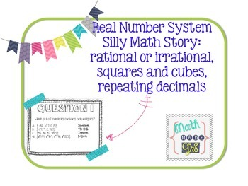 Real Number System Silly Story Puzzle