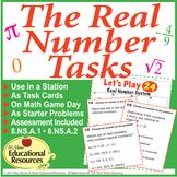 Real Number System TASKS - 72 Task Problems, 20 Question T