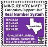 Real Number System Unit TEKS 8.2A, 8.2B, 8.2C, 8.2D