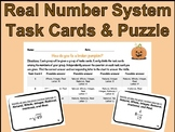 Real Number System Task Cards and Fall Riddle