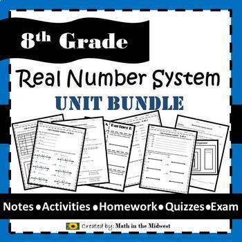 Real Number System Unit Bundle - 8.NS.1, 8.NS.2, 8.EE.2 {EDITABLE}