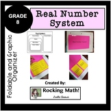 Real Number System foldable and graphic Organizer
