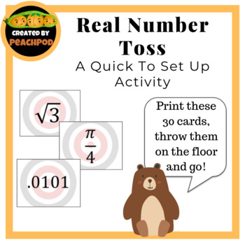 Real Number Toss: A Quick To Set Up Activity