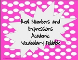 Real Number Vocabulary Foldable