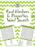 Real Number and Properties Word Search