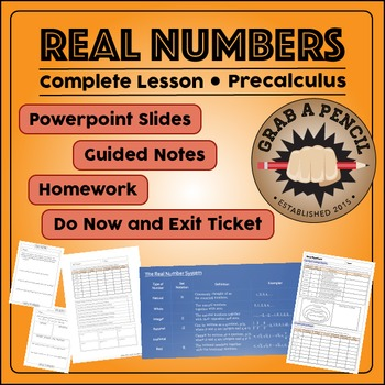 Precalculus: Real Numbers Complete Lesson