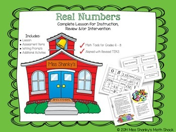 Math TEKS 8.2A:  Real Numbers Lesson