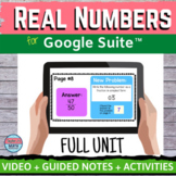 Real Numbers Digital Distance Learning for Google Classroo