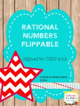 Real Numbers Flippable - Great for INBs!