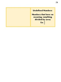 Real Numbers Foldable/Graphic Organizer