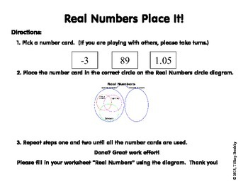 Real Numbers Game