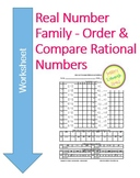 Real Numbers - Order and Compare Rational & Irrational Numbers 30 problems