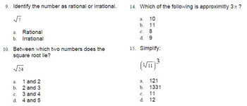 Real Numbers Quiz / Assessment Go Math Grade 8 MAFS.8.NS.1.1 8.NS.A.2