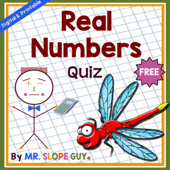 FREE Real Numbers Quiz / Assessment / Worksheet Go Math Grade 8 Pre ...