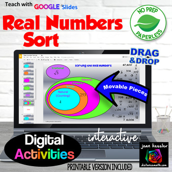 Real Numbers Sort with GOOGLE Slides
