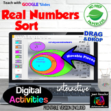 Real Numbers Sort with GOOGLE Slides™