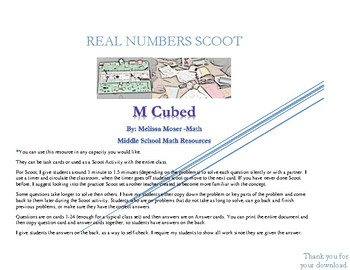 Real Numbers Task Cards