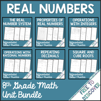Real Numbers - Unit 1 Bundle
