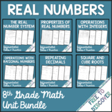 Real Numbers Notes and Practice Bundle