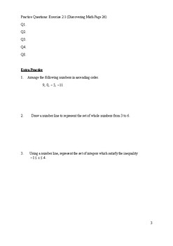 Chapter 2 Real Numbers Worksheet