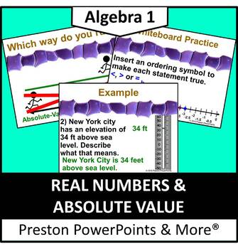 Real Numbers and Absolute Value in a PowerPoint Presentation