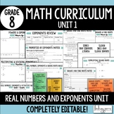 Real Numbers and Exponents Unit