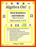 Real Numbers and Subsets, Short Version