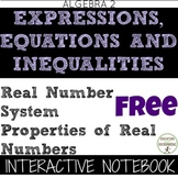 Real Numbers and Their Properties Interactive Notebook for