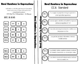 Real Numbers in Expressions Reflection Sheet