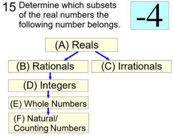 Real Numbers Unit: 3 Intro's, 10 Assignments + a Reference for PDF