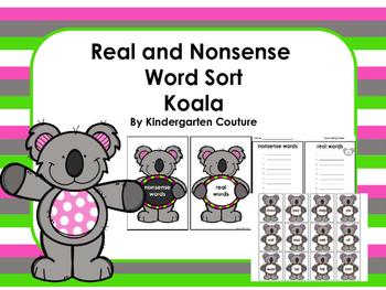 Real Or Nonsense Word Sort -Koala