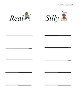 Real Or Silly?  (A Word Family Center)