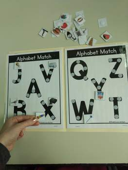 Real Photo Alphabet File Folders for A to Z