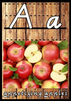 Real Photo Alphabet Posters (Victorian Modern Cursive)