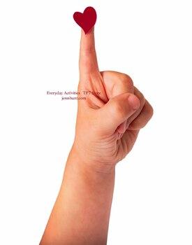 Real Photo Little Boy Red Heart On Index Finger - Transparent Background