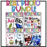 Real Photo Rainbow Bright Class Decor (Ten Frames, Colors, Alphabet, Word Wall)