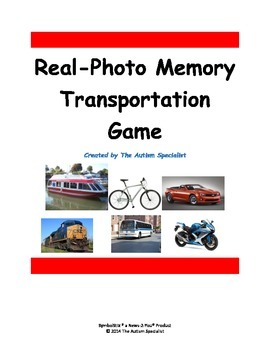Real Photo Transportation Memory Game for Students with Autism