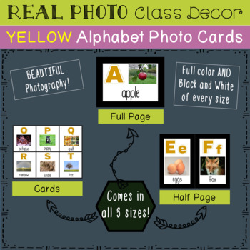 Real Photo Yellow Alphabet