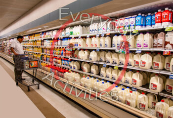 Real Photo fo Milk Aisle in Grocery Store, Dairy Aisle Image, Pinterest