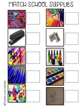 Real Photograph File Folders: School Supplies