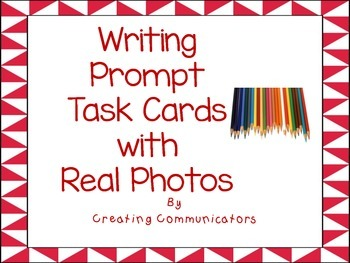 Real Photos- Writng prompt task cards