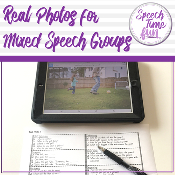 Real Photos for Mixed Speech Groups