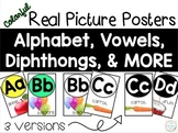 Classroom Alphabet Real Picture Posters