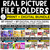 Real Pictures File Folders Bundle for Special Ed: Print + Digital