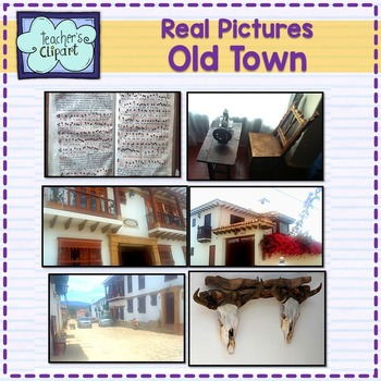 Real Pictures {Old Hispanic town} stock photos For Persona