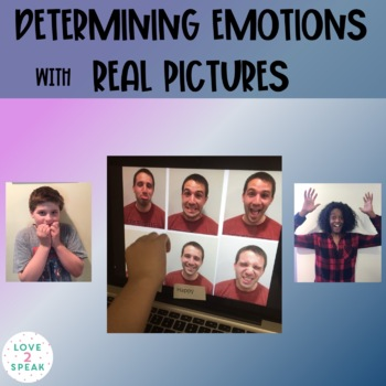 Real Pictures of Six Different Emotions & Feelings With Question Cards