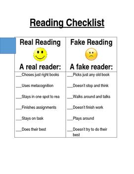 Real Reader Checklist
