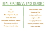 Real Reading Vs. Fake Reading Poster