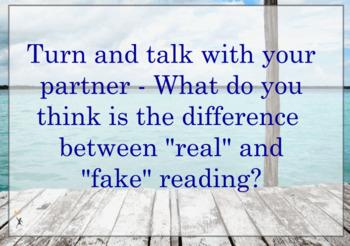 Real Reading vs Fake Reading Flipchart